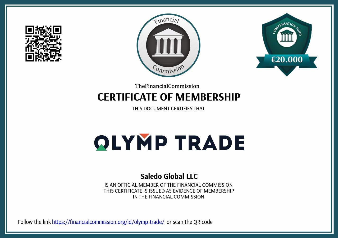 Olymp Trade Diregulasi Oleh Financial Commission